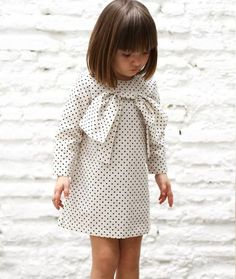#little #girls #dress #dots #whiteblack #black #white