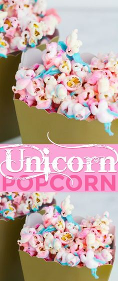 Bag Parts & Accessories Unicorn Party Popcorn Boxes Diy Folding Candy Birthday Party Decoration Christmas Treat Bags Popcorn Box Drop Shipping