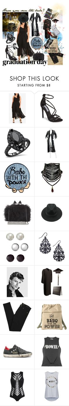 """the babe with the power - graduated!"" by caroline-buster-brown ❤ liked on Polyvore featuring City Chic, Steve Madden, BCBGMAXAZRIA, Kim Rogers, Thalia Sodi, Studio Cockatoo, Yves Saint Laurent, Golden Goose, PIN UP STARS and South Parade"