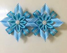 christmas Hair clips Handmade by SweetGirlHair on Etsy