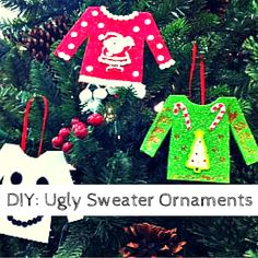 DIY Ugly Christmas Sweater Ornaments – PTPA