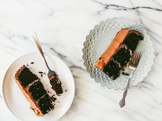 DOUBLE CHOCOLATE CAKE WITH COCONUT-PECAN FILLING / Oh, Ladycakes #cake #eats