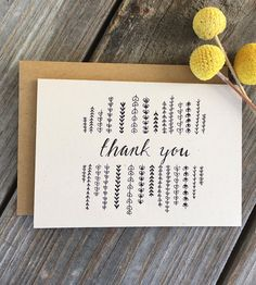Vines Thank You Cards, 10-Pack | Share your appreciation for friends and family with these leaf... | Greeting & Note Cards