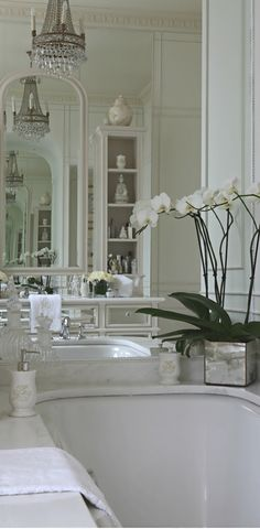 French Flair Bathroom ~Grand Mansions, Castles, Dream Homes & Luxury Homes ~Wealth and Luxury