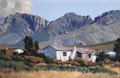 TED HOEFSLOOT Landscape Photos, Landscape Art, Landscape Paintings, South African Artists, Africa Art, Farm Houses, Country Art, Paintings I Love, Art Nature