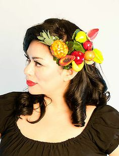 Fruit Hair Clips Carmen 40s 50s Rockabilly Pinup Vintage WWII Tiki Hawaiian | eBay