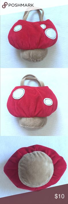 Mario🍄 Mushroom Toddler Girl Baby Purse Gymboree Mario mushroom toddler purse in excellent condition. Absolutely no stains or rips. Gymboree Accessories Bags