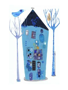Blue bird sings a blue song-Marta Torrão illustrator