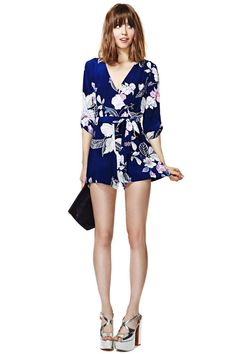 I have never felt inspired to buy a romper, but this one is real cute... Yumi Kim Botanical Escape Silk Romper