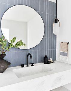 How to Design a Modern, Dramatic Powder Room The First Mountain House Bathroom Reveal: Our Quiet Drama Powder Bath Bad Inspiration, Bathroom Inspiration, Modern Bathroom Design, Bathroom Interior Design, Modern Bathrooms, Bath Design, Bathroom Designs, Modern Interior, Luxury Bathrooms