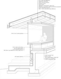 Tosan-ri Guest House,Details Axonometric