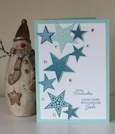 - Stampin up - Craft web Scrapbooking Diy, Scrapbook Paper, Handmade Birthday Cards, Diy Birthday, Stampin Up Christmas, Christmas Cards, Star Cards, Scrapbook Designs, Handmade Crafts