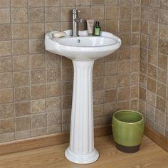 Merveilleux Mini Victorian Pedestal Sink With Single Faucet Hole $199