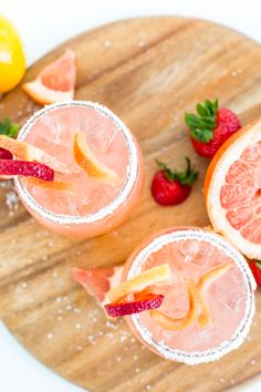 Strawberry Grapefruit Salty Dog Recipe