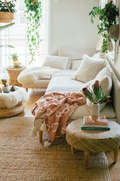 4 IKEA Sofa Hacks That'll Convince You to Reupholster 4 IKEA Sofa Hacks That'll Convince You to Reupholster Bright Living Room Filled Neutral Tones<br> All it takes is a little fabric to hack an IKEA sofa—check out these five transformations for proof. Ikea Sofas, Ikea Couch, Ikea Karlstad Sofa, Beige Couch, Boho Living Room, Living Room Sofa, Bright Bedroom Ideas, Bright Living Room Decor, Ikea Living Room Furniture