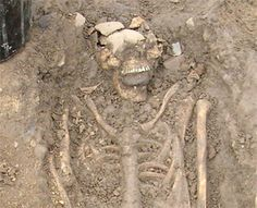 """""""Two early medieval skeletons were unearthed recently in Ireland with large stones wedged into their mouths -- evidence, archaeologists say, that it was feared the individuals would rise from their graves like zombies."""""""