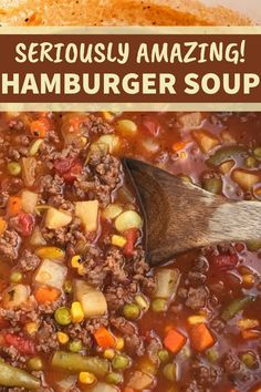 Beef Soup Recipes, Ground Beef Recipes Easy, Beef Recipes For Dinner, Vegetarian Recipes, Cooking Recipes, Healthy Recipes, Recipes With Ground Deer, Chili Soup Recipe, Soups