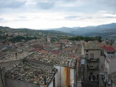 The central Sicily mountain town of Santo Stefano di Quisquina, seen from Rosetta's sister Maria's balcony