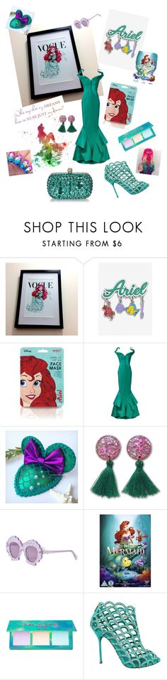 """Little mermaid x"" by catyjane07 ❤ liked on Polyvore featuring Disney, Zac Posen, STELLA McCARTNEY, Lime Crime and Sergio Rossi"