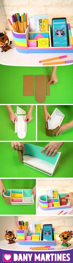 Diy Crafts For Girls, Diy Crafts To Do, Diy Crafts Hacks, Diy Arts And Crafts, Creative Crafts, Easy Crafts, Diy Cardboard Furniture, Cardboard Crafts, Cool Paper Crafts