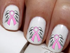 Any Set FREE Coupon Code PINIT #Naildecals #FREE  20 pc Pink Ribbon Breast Cancer Awareness Nail by EasyNailTrends