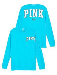 PINK Nation Long Sleeve Campus Tee PINK SQ-343-094 (92M) 23.99 ...
