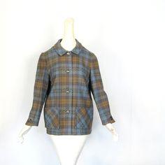 Pendleton Plaid Coat  / 1950s Jacket / 50s by SmallEarthVintage, $58.00