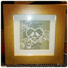 3D Lovebirds paper cut with Romeo & Juliet script as background. Template by Tommy&Tilly Designs. #handmade #love #papercut #family #homedecor #crafts