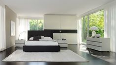 An interior design collection of modern designs featuring 18 Unbelievable Modern Bedroom Designs You're Going To Adore. Small Furniture, White Furniture, Contemporary Furniture, Furniture Design, New Interior Design, Modern Interior, Luxury Interior, White Wall Bedroom, Bedroom Decor