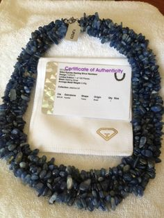 """AWESOME 18"""" 925ct Genuine Kyanite Nugget Necklace With Sterling Silver Clasp"""