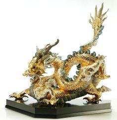 Lladro Gold Dragon