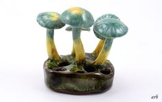 Lorenzen Pottery Sculpture Hygrophorus Psittacinus Mushrooms Lantz, Nova Scotia