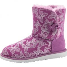 Ugg Fashion Comfortable Butterfly Dried Lavender Ugg Bailey Button Boots Ugg