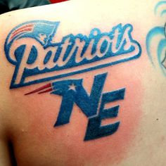 New England Patriots tattoo