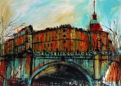 """Mikailovsky Zamok"" by Irina Rumyantseva - £290 - Acrylics on Canvas"