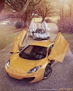 ♂ Orange car #wheels #vehicle The Evolution- McLaren MP4-12C & McLaren F1