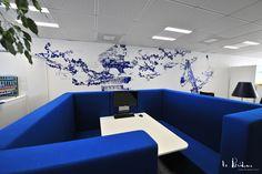 Design mural contemporain pour le siège social de Pragma à Montpellier