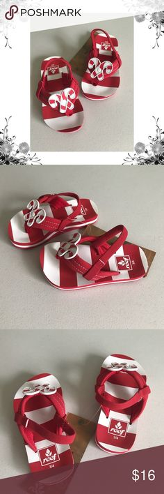 🆕{Reef} Lil Ahi Toddler Candy Cane Flip Flops Size 3/4. Manufacturer Color is Candy Cane. Flip Flops. Slip On. Striped. Super cute! Bundle for discounts! Thank you for shopping my closet! Reef Shoes Sandals & Flip Flops