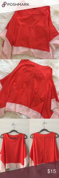 Spotted while shopping on Poshmark: 2 Tone Woven Cold Shoulder Top-Small! #poshmark #fashion #shopping #style #Tops