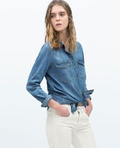 f8a2aa2a19 DENIM SHIRT from Zara  3 £20 Denim Button Up