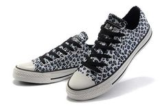 buy popular 8992a 85423 New Converse All Star Seasonal W chaussures Blue Leopard Print Low Top  Canvas Shoes