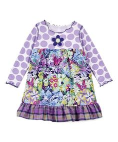 http://www.zulily.com/invite/kripley070 Love this Blue & Purple Flower Ruffle Dress - Kids & Tween on #zulily! #zulilyfinds