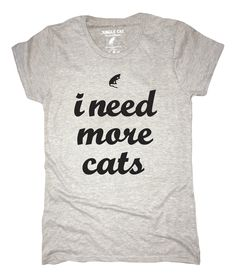 Super soft Kitty Cat Tee <3 Every order helps support pet shelters!