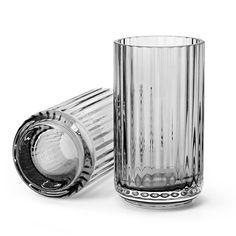 The Lyngby Vase Glass Grey Smoke - Lyngby Porcelæn @ RoyalDesign Shot Glass, Glass Vase, Kitchenware, Tableware, Interiors Online, Kitchen Interior, Decorative Items, Smoke, Design