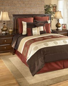 King Size Bed Sheets And Comforter Sets - Now, you might not know how exactly to produce the modern bedroom setting that is Bedroom Comforter Sets, King Bedroom Sets, Queen Bedding Sets, Girl Bedding, King Comforter, Bedroom Set Designs, Bed Ensemble, King Size Bed Sheets, Furniture Redo