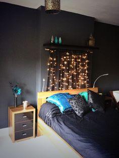Black and Teal Bedroom | teal black floral print this teal and ...