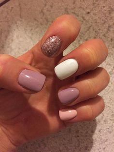Cute shellac nails, summer shellac nails, simple gel nails, fall gel na Cute Shellac Nails, Simple Gel Nails, Gel Polish Manicure, Love Nails, Manicure And Pedicure, Glitter Nails, My Nails, Acrylic Nails, Pedicure Ideas