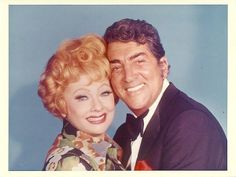 Dean Martin and Lucille Ball promo shot for the TV special 'Lucy Gets Lucky', which will air March 1, 1975.