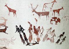 Cave painting at Roca dels Moros, in El Cogul