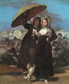 Francisco de Goya (1746-1828) Young Majas Oil on canvas 1811 Musee des Beaux-Arts (Lille, Artois, France)